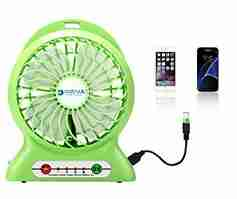 Dizual fan comes with power bank