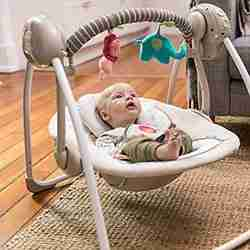 Ingenuity-Cozy-Kingdom-Portable-Swing-offer-adjustable-seating-position